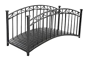 """Sunjoy Francis Bridge Made of Steel with Black Finish, 73"""" by 35"""" by 43"""""""
