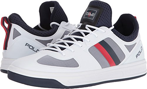 Polo Navy Red Lauren Ralph White Sneaker Men's French Lauren Court200 Ralph Pure rr1wqp