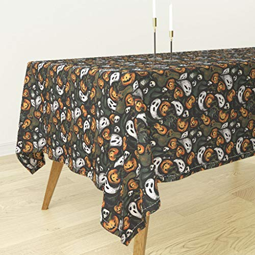 Roostery Tablecloth - Vintage Halloween Spooky Witch Witchcraft Magic Vintage Halloween by Daria Nokso - Cotton Sateen Tablecloth 70 x -