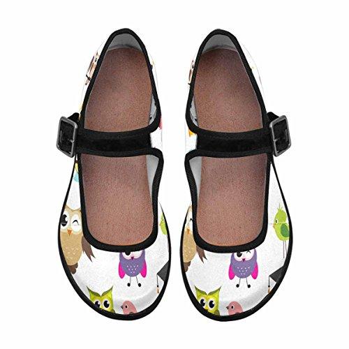 Interestprint Femmes Confort Mary Jane Appartements Casual Chaussures De Marche Multi 4
