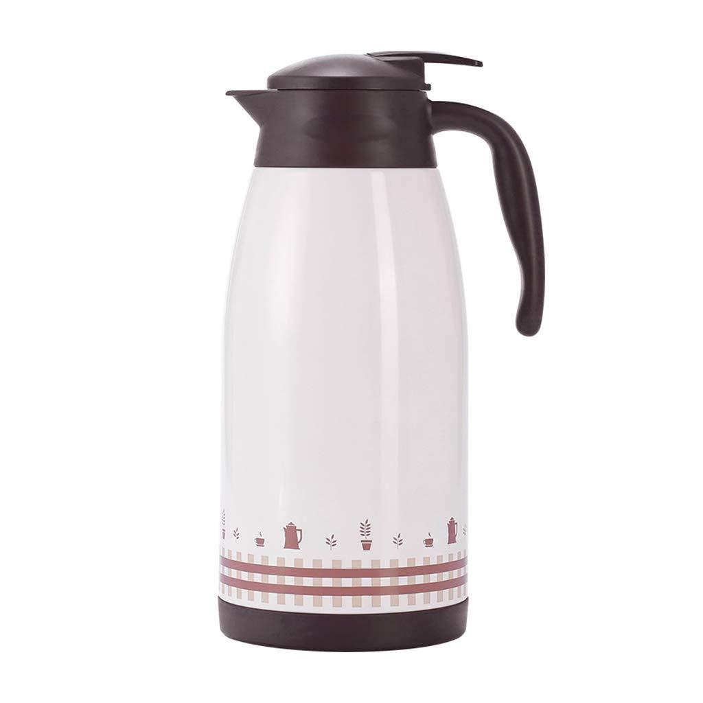 LRXG Thermoskannen, 2L-Vakuumkrug 304 Edelstahl-Doppelwand-Vakuumisolierter Saft/Milch- / Tee-Isoliergefäß Im Freien Große Kapazität Wasserkocher D8