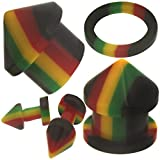 2 Pieces 6g 6 Gauges 4mm plugs tunnels screw Rasta gauges ear plugs stretcher fit taper expander Shipping