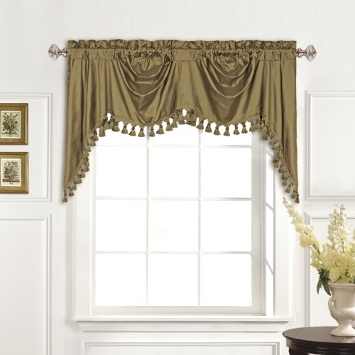 United Curtain 100-Percent Dupioni Silk Austrian Valance, for sale  Delivered anywhere in USA