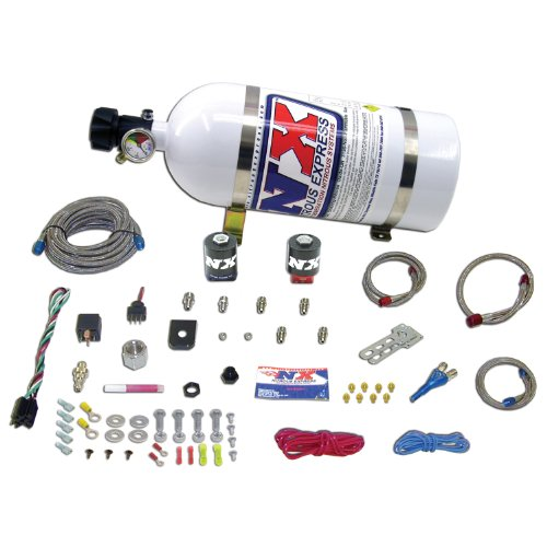 Nitrous Express 20921-15 35-150 HP EFI Single Nozzle System with 15lbs. Bottle for Dodge