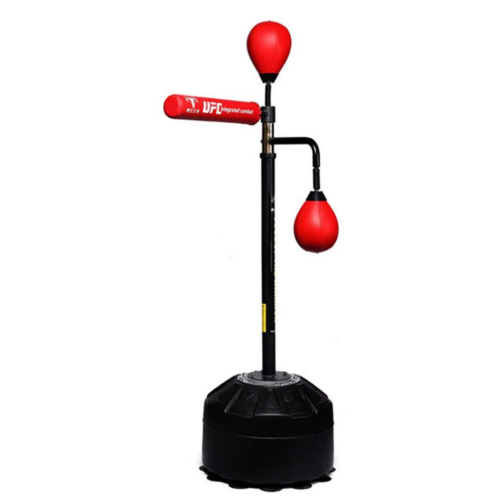トレーニングバッグ フリースタンディングボクシングパンチングバッグヘビーデューティーターゲットスタンドパンチバッグボクシングのキックボクシングのための優秀なダミーの混合武道 (Color : 赤, Size : 50 * 50 * 150cm) 赤 50*50*150cm