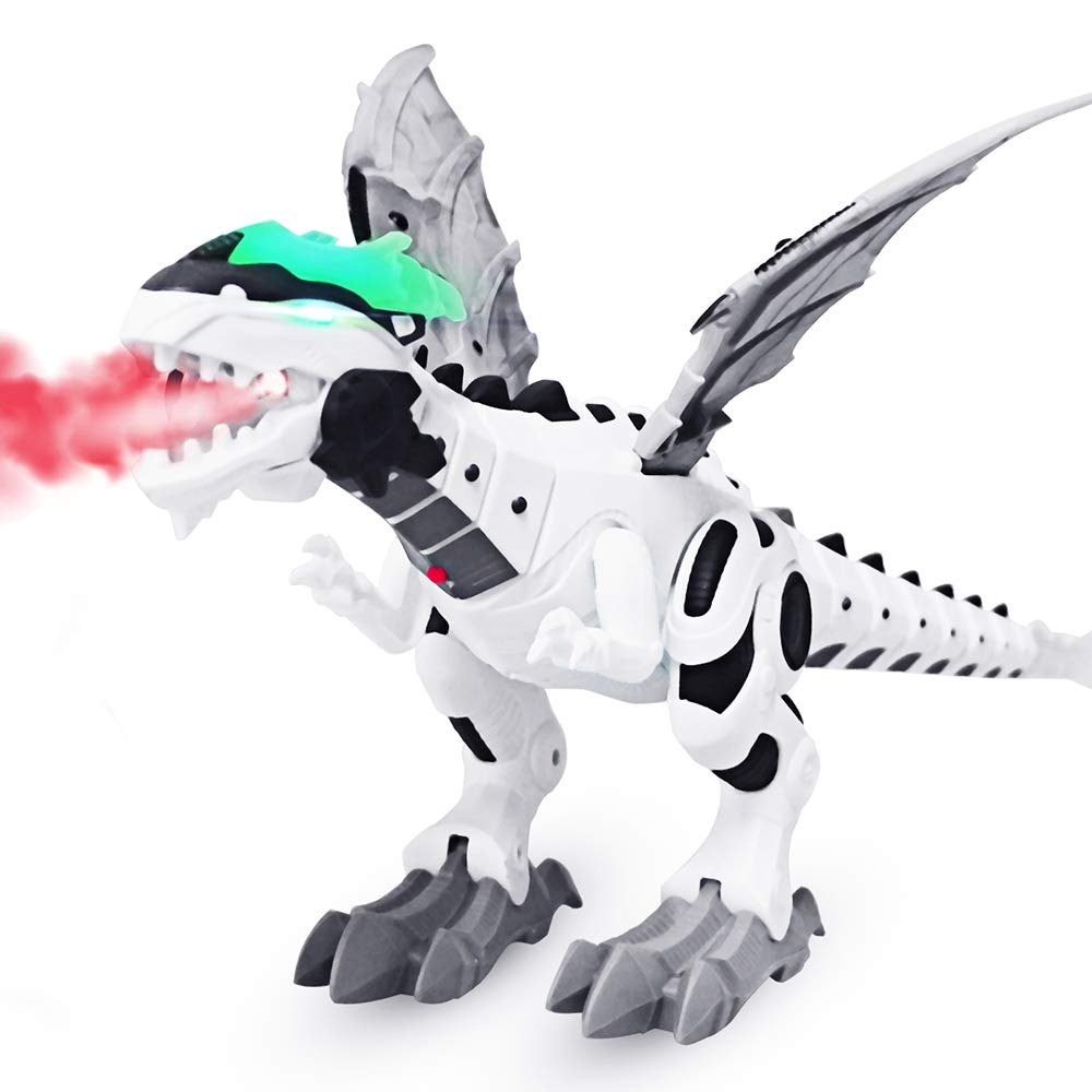 DX DA XIN Electronic Robot Dinosaur Toy Large Walking Dinosaur Toys Kids Boys Girls Toddler Interactive Robotic Dinosaur Gifts with Sound, Light, Spitfire, Shake Tail Wings by DX DA XIN (Image #1)
