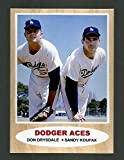 Sandy Koufax And Don Drysdale Los Angeles Dodgers 1962 Style Reprint/Retro Baseball Card. Career Statistics On The Back. Mint Condition