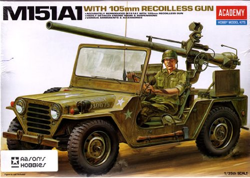 Academy 1 35 M151A1 with 105mm Recoilless Gun   13003