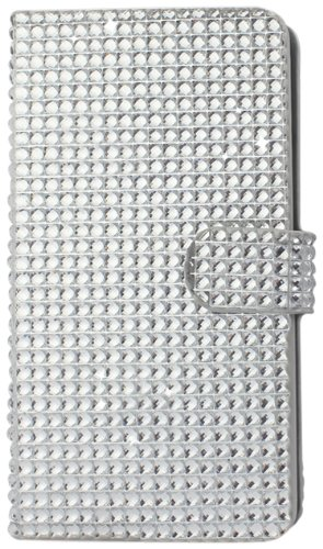 Reiko Diamond Flip Case for Samsung Galaxy Note 3 - Retail Packaging - Silver