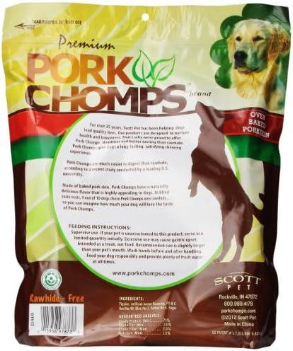 Premium Pork Chomps Knotz Bacon, 11 , 4 Count