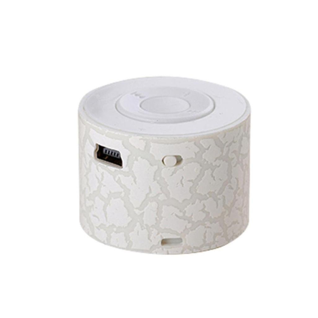 AMA(TM) Mini Wireless Speaker Wireless Speaker for Android and IOS Cell Phone, PC and more (White)