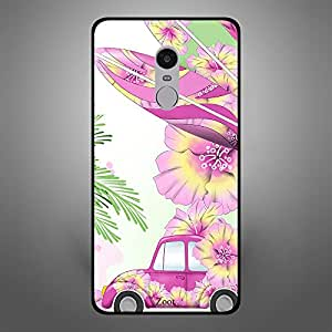 Xiaomi Redmi Note 4 Pink Car n Leaves