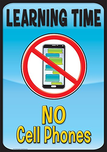 Teacher Created Resources 7411 Learning Time, No Cell Phones Positive Poster Cell Poster