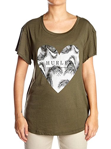 Hurley - Love Me Bliss Easy Crew, color marrã³n, talla L