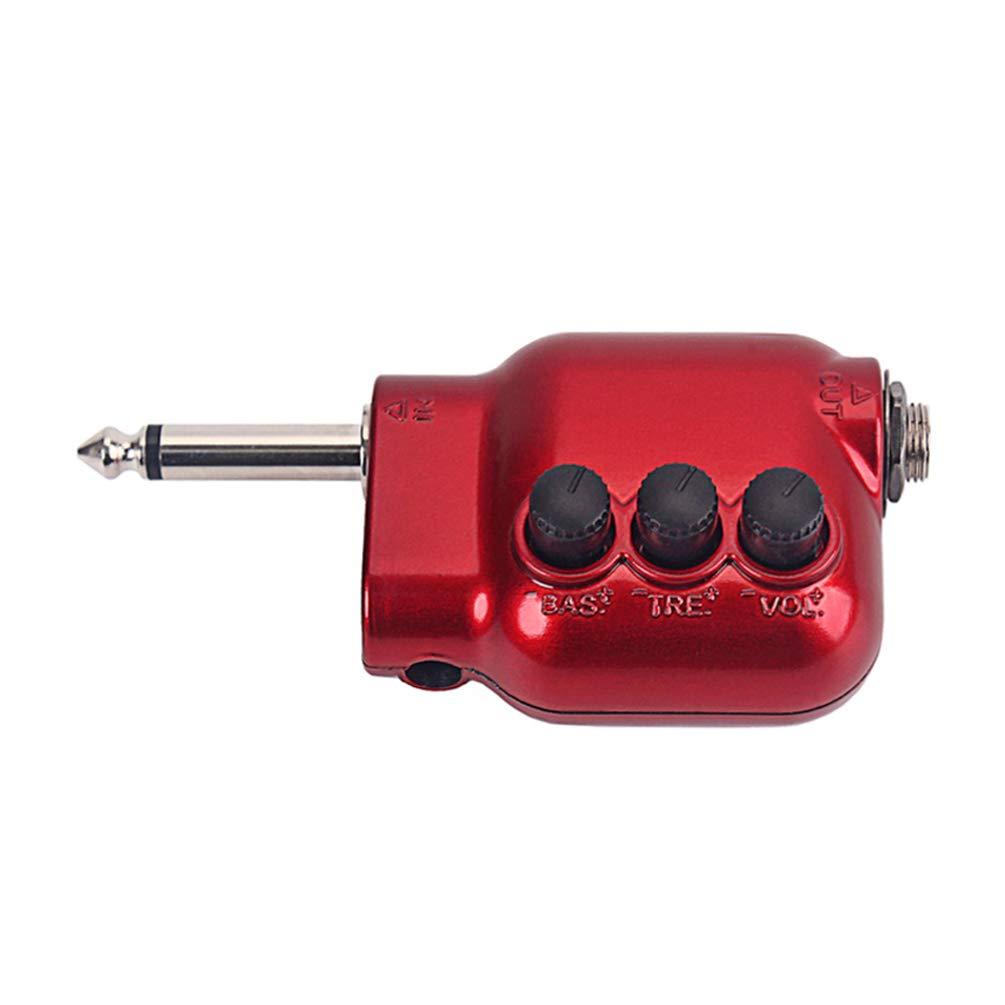 rojo SUPVOX preamplificador prime durable rojo 6.35mm enchufe partes de guitarra preamplificador preamplificador para guitarra bajo instrumento musical
