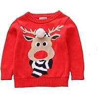 Toctax Suéter de Bebé Navidad Dibujos Animados de Jersey de Navidad Bordado Prendas de Punto Espesar Suéter Jersey de…