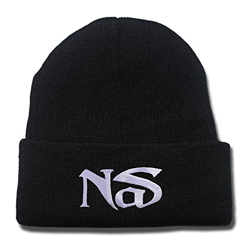 NAS Hip Hop and Rap Band Logo Beanie Fashion Unisex Embroidery Beanies Skullies Knitted Hats Skull Caps