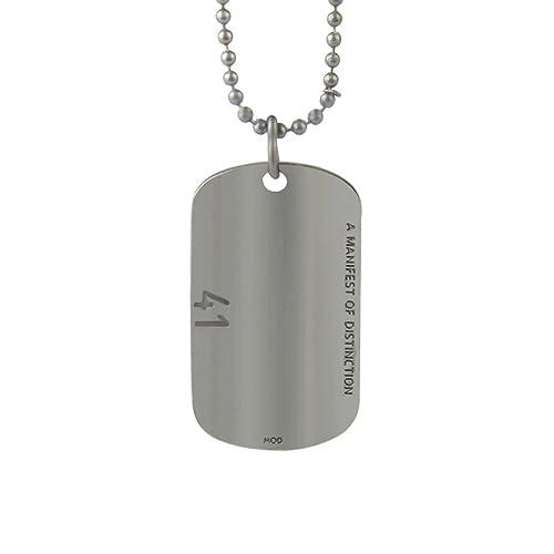 Daesar Collar Cadena Acero Inoxidable Placa de Militar ...