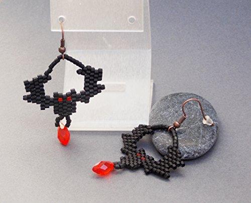 Handmade Halloween jewelry black bat halloween vampire gothic je goth horror witch (Happy Chic Nina)