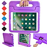 BMOUO Case for New iPad 9.7 Inch 2018 2017 - Shockproof Case Light Weight Kids Case Cover Handle Stand Case for iPad 9.7 Inch 2017 2018 New Model - Purple