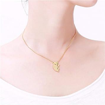 Underleaf Frauen Delphin Halskette Schmuck Cute Animal Anh/änger Kette Neuheit Halsketten gelb