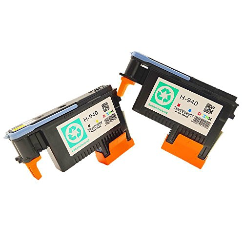 QINK 2 Pack for HP 940 Printhead Black & Yellow (C4900A) Cyan & Magenta (C4901A) for HP Officejet Pro 8000 8500 8500A 8500A Plus 8500A Premium