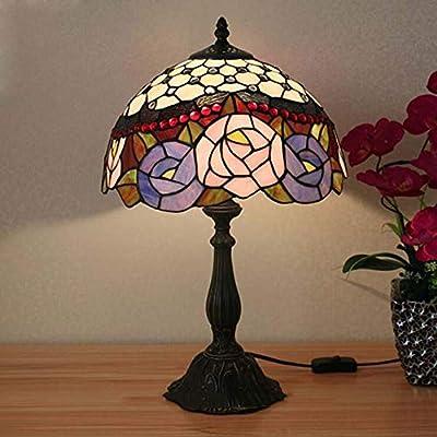 PIN Lámpara de mesa de 12 pulgadas Vitral hecho a mano Dormitorio ...
