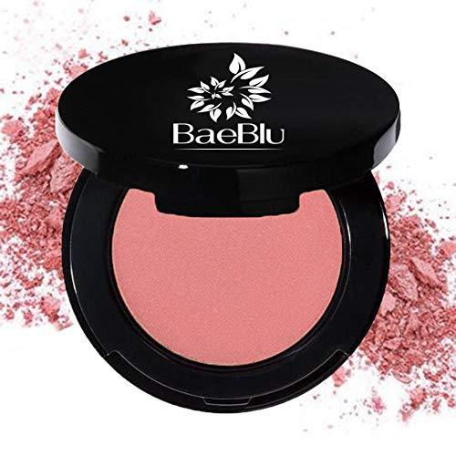 - BaeBlu Organic Blush 100% Natural Pressed Mineral Powder, Made in the USA, Petal