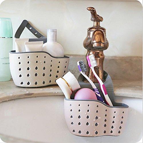TOLOVI Kitchen Suction Cup Sink Shelf Soap Sponge Holders Drain Rack Sucker Storage Tools Storage Holders