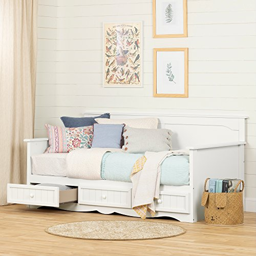 - South Shore 11685 Savannah Daybed with Storage, Twin, Pure White