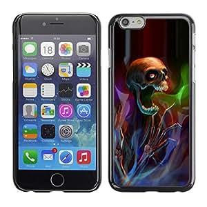 FECELL CITY // Duro Aluminio Pegatina PC Caso decorativo Funda Carcasa de Protección para Apple Iphone 6 // Death Metal Rock Heavy Dark