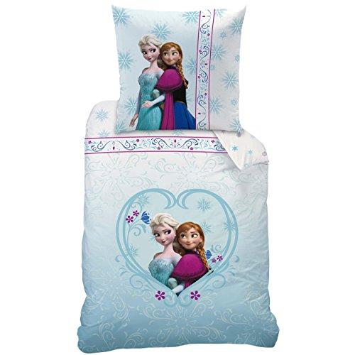 Disney Frozen 042654 Bettwäsche Nordic, Baumwolle Linon, 135 x 200 und 80 x 80 cm