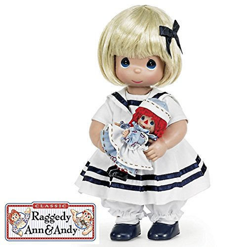 The Doll Maker Precious Moments Dolls, Linda Rick, Marcella and Raggedy Ann, 12 inch doll - Moments Doll Precious Vinyl