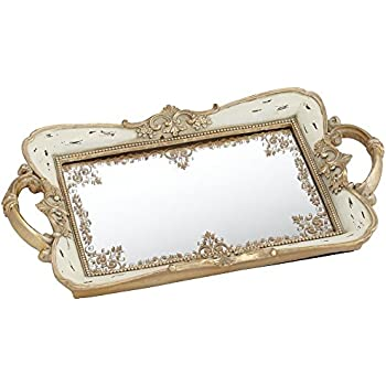 Amazon Com Gilda Soft Pink And Gold 13 Quot Wide Mirrored