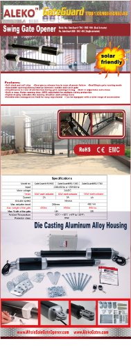 ALEKO GG1700NOR Automatic Dual Swing Gate Opener for Gates up to 26 Feet Long 1700 Pounds by ALEKO (Image #8)
