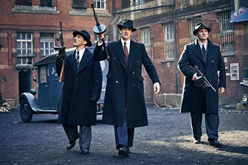 HandTao Peaky Blinders Drama del crimen británico Serie de TV Tela Tela Cartel de la pared Impresión de la foto 20x13 pulgadas