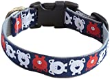 molly mutt Animal Farm Bamboo Dog Collar, Small, Navy Blue