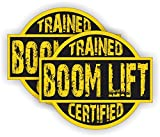 Boom Lift Trained Certified Hard Hat Sticker | Helmet Decal | Label Lunch Tool Box Motorcycle