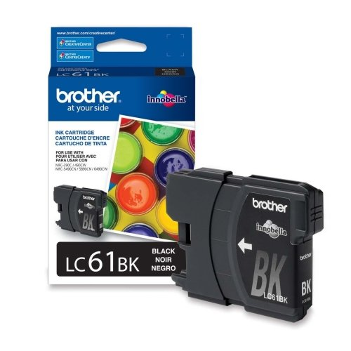 """Brand New Brother Industries, Ltd - Brother Innobella Lc61bk Standard Yield Black Ink Cartridge - Black - Inkjet - 450 Page - 1 Each """"Product Category: Print Supplies/Ink/Toner Cartridges"""" from Brother"""