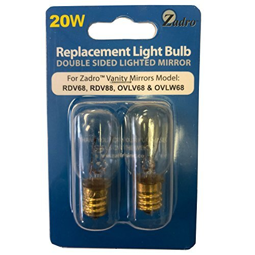 20-watt Replacement Light Bulb for Zadro OVLW68/OVLW68/RDV68/RDV88 - Set of 2