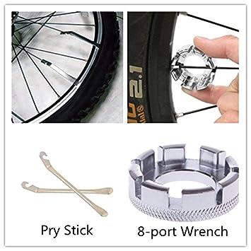 Lanyifang Palanca de Rueda Herramientas de Reparación de Bicicleta/ 1 Pcs Llave de 8 Port Tuerca ...