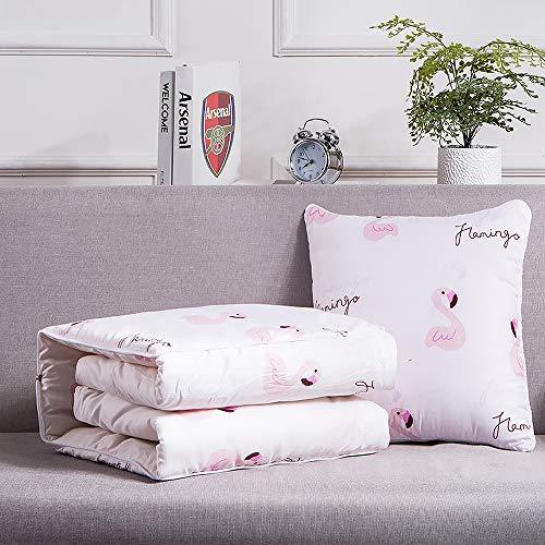 (YASSUN Dual Purpose Pillow, Sofa Cushion, Pillow Quilt, Office Nap Air Conditioner Quilt, Multi-Function, Folding, Indoor/Outdoor Square Pillow)