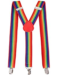 Unisex Clip-On Adjustable Elastic Suspenders - Assorted Colors