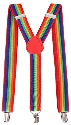 (Livingston Cosplay Party Accessory Adjustable Elastic Suspenders for)