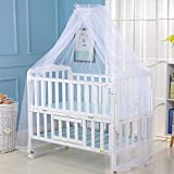 """Smartcoco Universal Baby Bed Mosquito Net Dome Foldable Floor-Standing Mesh Mosquito Net for Toddler Crib Cot Canopy, 63"""" x 177"""""""