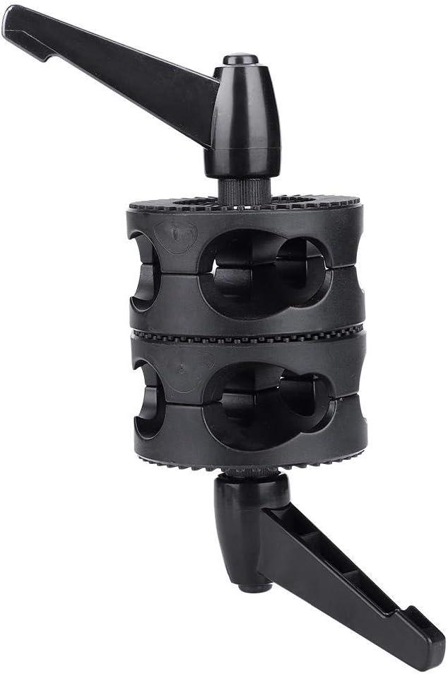 Dual Head Grip Swivel Clamp Head Holder Bracket Compatible for Photography Studio Flash Reflector