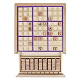 Andux Land Wooden Sudoku Puzzle Board Game with Drawer SD-02 (Purple)