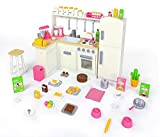 18 Inch Doll Furniture Kitchen Set w/ Refrigerator and Accessories – Playtime by Eimmie Collection