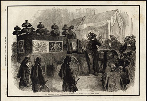 Funeral Procession Royal Highness Prince Albert 1861 antique engraved print