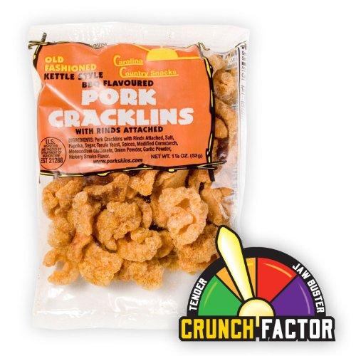 Bbq Pork Rinds (Orginal Cracklin BBQ 12 bags (1.875oz))